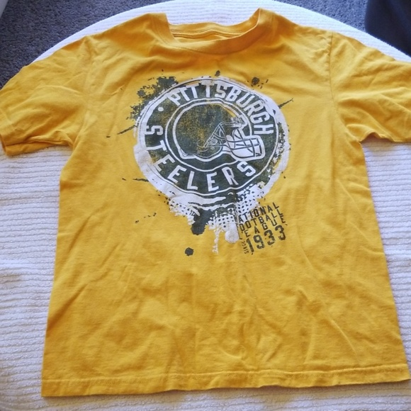 purchase cheap 15061 cd79c Yellow vintage Pittsburgh Steelers shirt